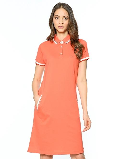 Karaca Yarım Kol Elbise Mercan